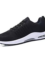 hesapli -Erkek Ayakkabı Örümcek Ağı Bahar Günlük Atletik Ayakkabılar Yürüyüş Günlük için Beyaz / Siyah