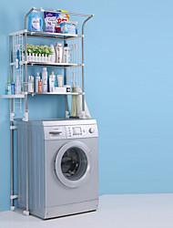 Недорогие -Полка для ванной Регулируемая длина / Складной / С компактным кабелем Современный / Modern Нержавеющая сталь + категория А (ABS) / Нержавеющая сталь / железо 1шт - Ванная комната Установка на полу