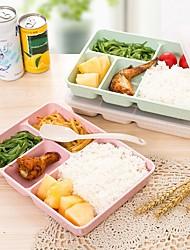 Недорогие -900 мл здорового материала коробка для завтрака 3 слоя пшеничной соломы бенто микроволновый контейнер