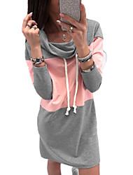 abordables -Femme Basique Sweatshirt Couleur Pleine