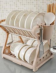 abordables -Organisation de cuisine Rangements & Porte-objets / Deux couches / Organisateurs de coutellerie Plastique / Métallique Design nouveau / Rangement / Creative Kitchen Gadget 1pc
