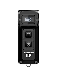 Недорогие -Nitecore TUP Светодиодные фонари Светодиодная лампа LED 1 излучатели 1000 lm 4.0 Режим освещения Простота транспортировки Повседневное использование Черный / Серый