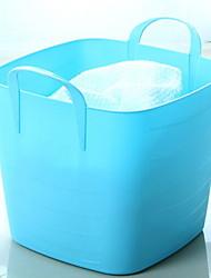 Недорогие -пластик Прямоугольная Новый дизайн Главная организация, 1шт Корзины для хранения