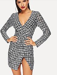 Недорогие -Женское ежедневное платье midi shift black s m l xl