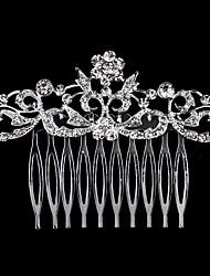 Недорогие -Жен. Мода Гребни Искусственный жемчуг Стразы Сплав,Цветочный принт / В форме листа