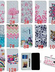 Недорогие -Кейс для Назначение SSamsung Galaxy S9 / S9 Plus / S8 Plus Кошелек / Бумажник для карт / со стендом Чехол Эйфелева башня / Сова / Цветы Твердый Кожа PU