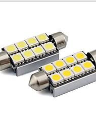 abordables -2pcs 36mm Automatique Ampoules électriques 1 W SMD 5050 80 lm 6 LED Éclairage intérieur Pour Universel Universel Universel