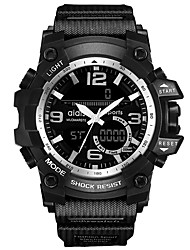 Недорогие -Муж. Спортивные часы Цифровой Pезина Черный Секундомер Фосфоресцирующий Cool Аналоговый Цифровой На каждый день Мода - Красный Синий Розовое золото