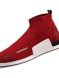 hesapli -Erkek Ayakkabı Elastik Kumaş / Tissage Volant Kış Günlük Mokasen & Bağcıksız Ayakkabılar Günlük için Siyah / Kırmzı