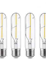 Недорогие -4шт 2 W 180-200 lm E26 / E27 LED лампы накаливания T30 2 Светодиодные бусины COB Декоративная Тёплый белый 220-240 V / RoHs