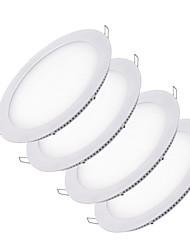 Недорогие -zdm® 4шт 6w 30 светодиодов с утопленной / легкой установкой светодиодные панели / светодиодные светильники натурального белого / холодного белого /