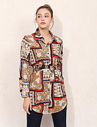 billige -Dame - Geometrisk Basale Skjorte