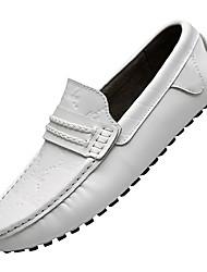 hesapli -Erkek Ayakkabı Deri İlkbahar & Kış Sportif / Günlük Mokasen & Bağcıksız Ayakkabılar Günlük / Ev için Siyah / Turuncu / Mavi