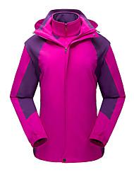 Недорогие -Жен. Куртка для туризма и прогулок на открытом воздухе Осень Весна Зима С защитой от ветра Дожденепроницаемый Воздухопроницаемость Устойчивость к УФ Чинлон Эластан Куртки 3-в-1 Верхняя часть