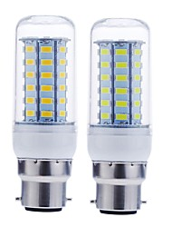 Недорогие -SENCART 1шт 12 W 1600-1900 lm B22 LED лампы типа Корн 56 Светодиодные бусины SMD 5730 Декоративная Тёплый белый / Холодный белый 220-240 V / 110-130 V / RoHs