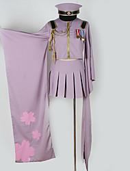 billiga -Inspirerad av Vocaloid Hatsune Miku Animé Cosplay-kostymer cosplay Suits Specialdesign Topp / Kjol / Mer accessoarer Till Herr / Dam