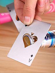 abordables -ouvre-bouteille de bière de pique de carte de poker personnalisé outil de barre d'ouvre-bouteille d'acier inoxydable
