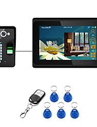 Недорогие -7inch проводной / беспроводной wifi отпечаток пальца rfid пароль видео домофон домофон домофон система upport удаленное приложение