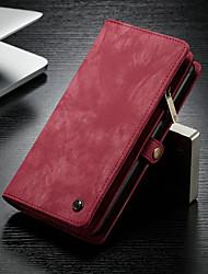 Недорогие -CaseMe Кейс для Назначение SSamsung Galaxy Note 9 Кошелек / Бумажник для карт / со стендом Чехол Однотонный Твердый Кожа PU для Note 9