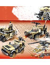 Недорогие -Конструкторы 100-200 pcs Армия Танк Летательный аппарат моделирование Военная техника Танк Вертолет Все Игрушки Подарок Legoingly