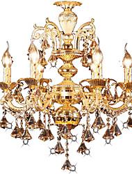 Недорогие -Люстры и лампы Рассеянное освещение Электропокрытие Металл Хрусталь, LED 110-120Вольт / 220-240Вольт Белый Лампочки не включены / E12 / E14