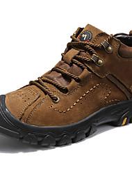 hesapli -Erkek Ayakkabı Nappa Leather Sonbahar Kış Klasik / Günlük Çizmeler Yarı-Diz Boyu Çizmeler Günlük / Dış mekan için Siyah / Kahve / Kahverengi