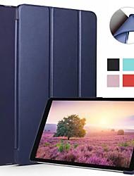 billiga -fodral Till Samsung Galaxy Tab A2 10.5(2018) Lucka / Ultratunt / Origami Fodral Enfärgad Mjukt Silikon för Tab A2 10.5(2018)