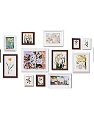 Недорогие -Современный Дерево Окрашенные отделки Рамки для картин, 14pcs