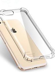 Недорогие -Кейс для Назначение Apple iPhone X / iPhone 7 / iPhone 7 Plus Защита от удара / Прозрачный Кейс на заднюю панель Однотонный Мягкий ТПУ для iPhone X / iPhone 8 Pluss / iPhone 8