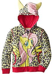 お買い得  -幼児 女の子 活発的 日常 幾何学模様 長袖 レギュラー ポリエステル ジャケット&コート イエロー