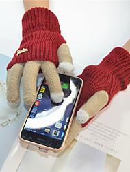 Недорогие -перчатки для женщин / мужские наручные пальцы - цветной блок