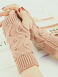 Недорогие -женский запястье длиной половину перчатки перчатки - печать