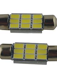 Недорогие -2pcs 39mm / 36mm / 41mm Автомобиль Лампы 2W SMD 5630 215lm 9 Подсветка для чтения