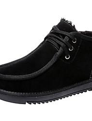 billige -Herre Komfort Sko Semsket lær Vinter Klassisk / Vintage Støvler Hold Varm Ankelstøvler Svart / kaffe / Brun