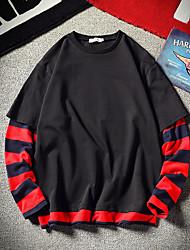 Недорогие -мужская футболка больших размеров - цвет блока на шее