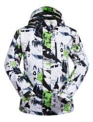 Недорогие -Муж. Лыжная куртка С защитой от ветра, Водонепроницаемость, Теплый Катание на лыжах / Зимние виды спорта Искусственный шёлк, Терилен Зимняя куртка / Верхняя часть Одежда для катания на лыжах