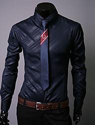 Недорогие -Муж. Рубашка Классический / Уличный стиль Однотонный / Графика