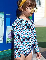 economico -Bambino Da ragazza Sport Fantasia geometrica Cotone / Poliestere Costumi da bagno Blu
