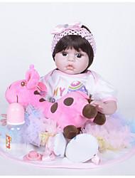 olcso -FeelWind Reborn Dolls Lány Doll Lány babák 22 hüvelyk Szilikon Vinil - élethű Kézzel Készített Bájos Gyermekek / Tinik Nem mérgező Gyerek Uniszex Játékok Ajándék
