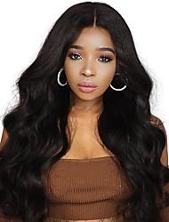 Недорогие -человеческие волосы Remy 360 Лобовой Лента спереди Парик стиль Бразильские волосы Естественные кудри Парик 130% 150% Плотность волос Жен.