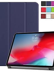 Недорогие -Кейс для Назначение Apple iPad Mini 5 / iPad New Air (2019) / iPad Pro 11'' Защита от удара / Ультратонкий / Магнитный Чехол Однотонный Твердый Кожа PU