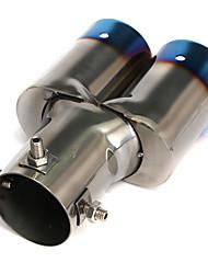 Недорогие -1 шт. 60 mm Советы по выхлопной трубе изогнутый Нержавеющая сталь Глушители выхлопа Назначение Универсальный Дженерал Моторс Все года