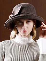 Недорогие -100% шерсть Кентукки дерби шляпа / Головные уборы с Бант 1шт Повседневные / На каждый день Заставка