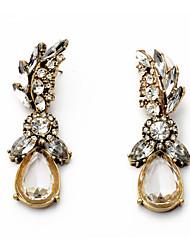 hesapli -1 çift Kadın's Avize Damla Küpeler - Simüle Elmas moda Tatlı Mücevher Pirinç Uyumluluk Cadde Dışarı Çıkma