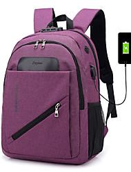Недорогие -Универсальные Мешки холст рюкзак Молнии Сплошной цвет Синий / Черный / Лиловый