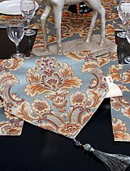 baratos -Moderna Poliéster Elástico Tricotado 100g / m2 Quadrada Toalhas Finas de Mesa Geométrica Decorações de mesa 1 pcs