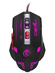 Недорогие -HXSJ Проводной USB Gaming Mouse / Управление мышью H600 7 pcs ключи LED подсветка 4 Регулируемые уровни DPI 7 программируемых клавиш 5500 dpi