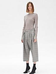 Недорогие -узкие женские брюки чинос - сплошной серый цвет
