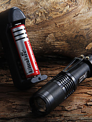 Недорогие -Светодиодные фонари Cree® XM-L T6 1 излучатели 1600 lm Водонепроницаемый Фокусировка Походы / туризм / спелеология Повседневное использование Велосипедный спорт