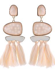 hesapli -1 çift Kadın's Püskül Damla Küpeler - moda abartma Mücevher Gökküşağı / Kırmzı / Mavi Uyumluluk Randevu Cadde